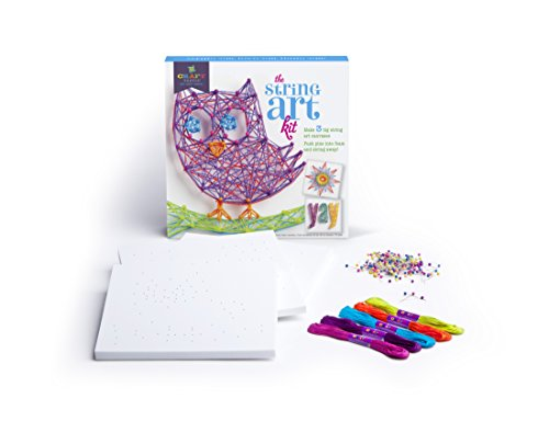 41CJzWX%2BaLL - Craft-tastic – String Art Kit – Craft Kit Makes 3 Large String Art Canvases – Owl Edition