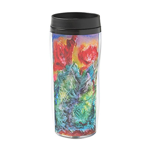 CafePress - Cactus, Colorful Southwest Desert Art 16 Oz Travel - 16 oz Travel Mug by CafePress