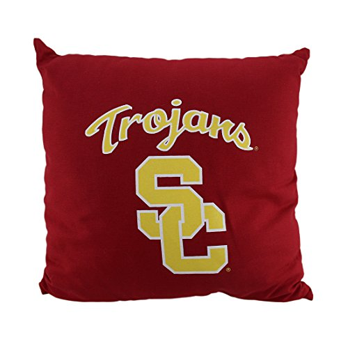 NCAA University of Southern California Trojans Team Color Throw Pillow 18 inch