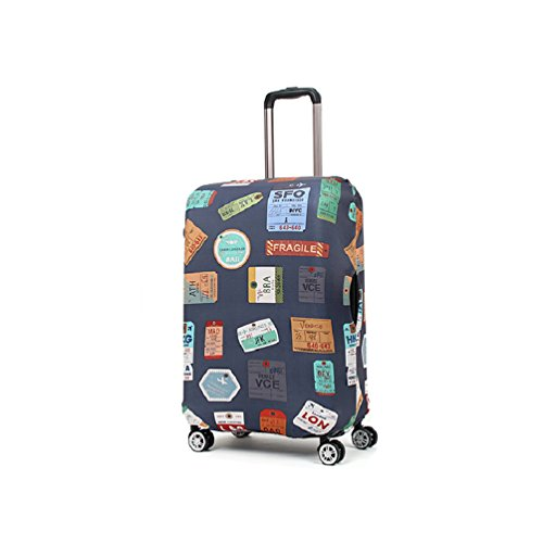 Rainproof Elastic Luggage Protective Cover Suitcase Protector Carry-on and Checked-in Size (Medium, Vintage)