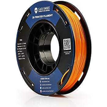 SAINSMART 1.75mm 250g Flexible TPU 3D Printing Filament, Dimensional Accuracy +/- 0.05 mm (Mango Mojito)