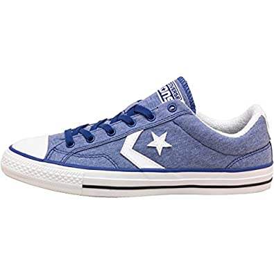c8f0a29ecfe1 Mens Converse Star Player Jersey Ox Blue White Guys Gents (12 UK 12 ...