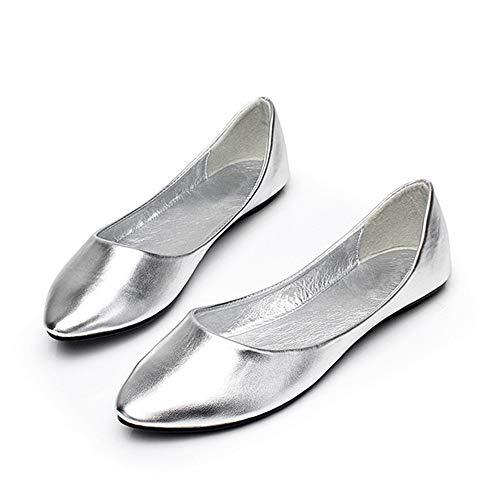 FLYRCX Zapatos Planos cómodos de la Boca Baja Simple y de Moda Zapatos Solos Zapatos Acentuados Zapatos de Trabajo de Las señoras Zapatos de Las Mujeres Embarazadas B
