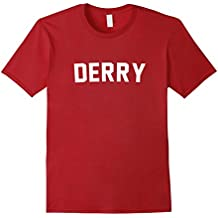 Mens Derry Maine Scary Shirt for Horror Movies Small Cranberry