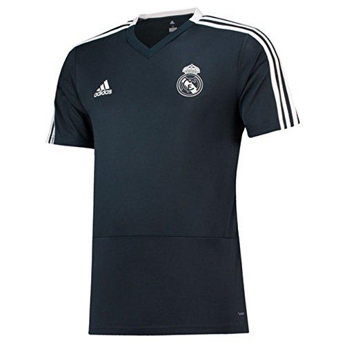 - adidas 2018-2019 Real Madrid Training Football Soccer T-Shirt Jersey (Dark Grey)