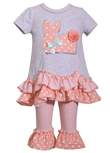 Bonnie Jean Easter Baby Girls' Appliqued Skirt Dress and Legging Set (2T, (Easter Boutique)