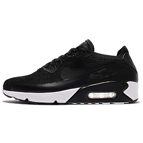 Nike Air Max 90 Ultra 2.0 Flyknit Men's Running Shoes Black/Black-Black-White 875943-004 (12 D(M) US) (Nike Air Max 90 Hyperfuse Black And White)