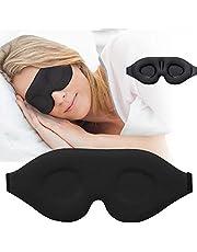 3D Sleep Mask, New Arrival Sleeping Eye Mask for Women Men, Contoured Cup Night Blindfold, Luxury Light Blocking Eye Cover, Molded Eye Shade with Adjustable Strap for Travel, Nap, Yoga, Black