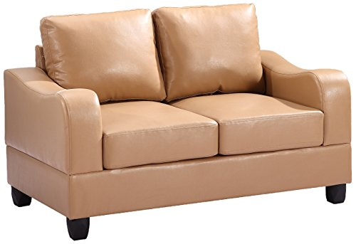 Glory Furniture G621-L Living Room Love Seat, Tan