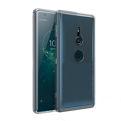 Olixar Sony Xperia XZ2 Bumper Case - Protective Tough Snap On Cover ExoShield - Drop + Shock Protection - Clear