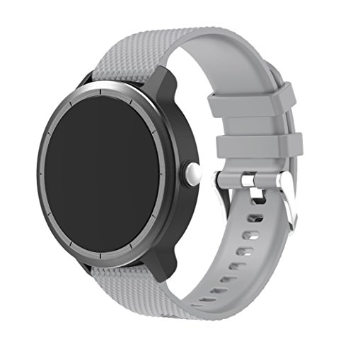 Junboer Compatible for Vivoactive 3 Watch Strap Band, Soft Silicone 20mm Quick Release Replacement Bands for Garmin Vivoactive 3/Samsung Galaxy 42mm