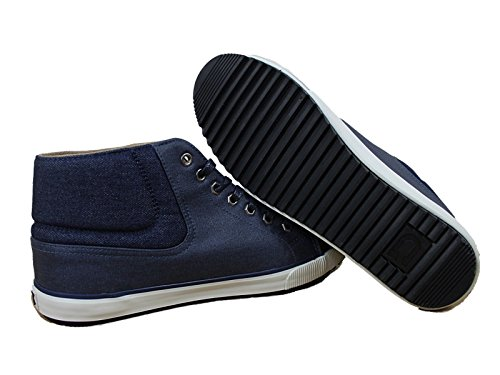 MENS NICHOLAS DEAKINS PHELPS HI TOP TRAINERS PHELPS WAXED CANVAS NAVY ALL SIZES outlet genuine Inexpensive for sale buy cheap choice cheap sale sneakernews HianU