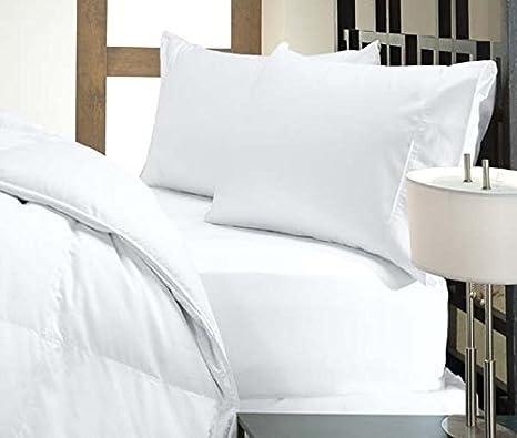 UHCBeddings Juego de sábanas de algodón egipcio 100% de alta calidad, para colchones de 45,7 cm de profundidad, lisos, blancos, 1000 hilos: Amazon.es: Hogar