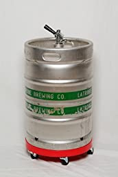 Beer Keg Dolly Sturdy Rolling Cart for Keg Transportation and Storage of Normal Full Sized Half Barrel Kegs
