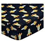 SheetWorld Fitted Sheet (Fits BabyBjorn Travel Crib Light) - Outer Space - Made In USA - 24 inches x 42 inches (61 cm x 106.7 cm)