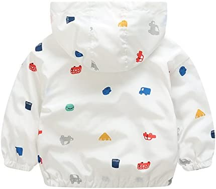 EZB Childrens Unisex Cars Windbreaker Jacket