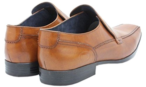 Base London Birkdale Tan Hombres Cuero Slipo On Zapatos