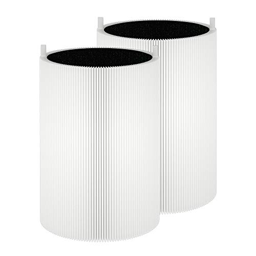 LHARI Blue 411 Replacement Filter, Compatible with Blueair Blue Pure 411, 411+ and Mini Air Purifiers, Particle and Activated Carbon, 2-Pack