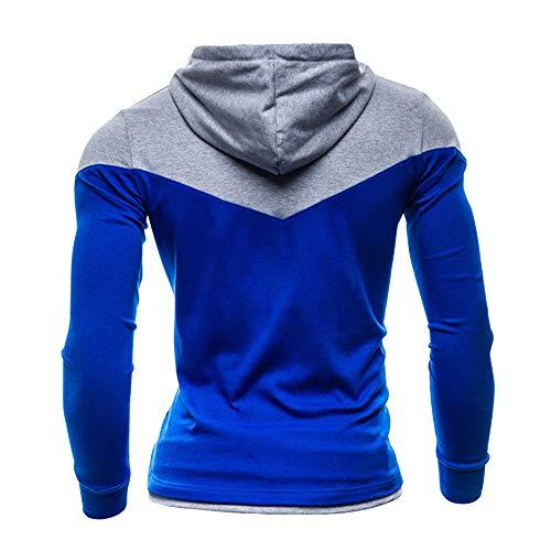 Peluche shirts Plus Sweat Bleu T Automne lin Taille Manches Casual Cordons La Longues Correspondant Couleur Hiver Homme Liquidation À shirt Day Lâche En Pulls vZSUwqw