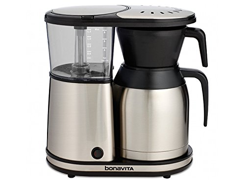 Bonavita BV1900TS 8-Cup Carafe Coffee Brewer, Stainless Steel Dishwasher Safe Coffee Maker