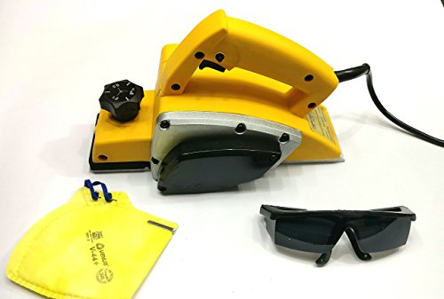 TOOLSCENTRE 'S Powerful Electric Wood Hand Planer With Free Goggles & Safety Mask To Ensure Your Safety. by Tools Centre