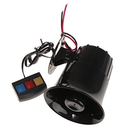 (Dolity 12V Car Alarm 3 Tone Sound Siren Horn PA System 110db Super Loud SUV Motor)