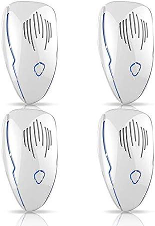 Vivibel Ultraschall Schädlingsbekämpfer 4 Stück Elektronische Insektenschutzmittel Elektronische Moskitoschutz Für Kakerlaken Ameisen Mäuse Fliegen Mücken Garten