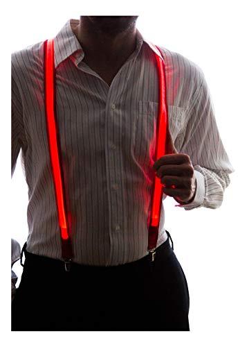 Light Up Hat (Neon Nightlife Men's Light Up LED Suspenders, One Size,)