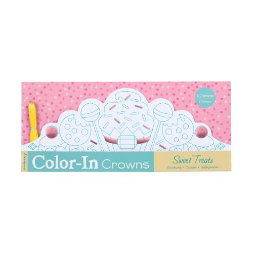 Mudpuppy Sweet Treats Color-in Crowns
