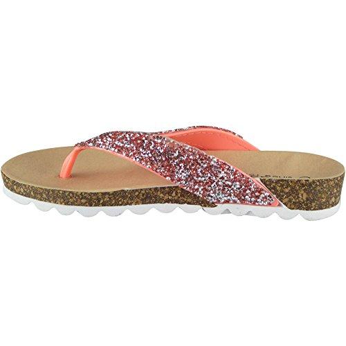 Toe Été Mode LoudLook Post Corail Chaussures Plats Sandales Taille 41 Chappal Dames 36 des Sur Caleçon Femmes Hwwpqx4