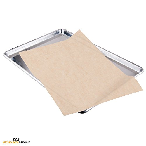 Kitchen & Beyond Natural Parchment Paper Pan Liner, 12-inch By 16-inch, Unbleached, 50-pack
