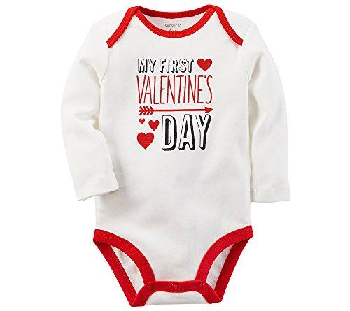 Carter's My First Valentines Day Bodysuit Newborn (Valentines Carters Shirt)