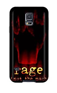 Durable Defender Case For Galaxy S5 Tpu Cover(rage Against The Machine Music People Music)