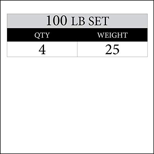 XMark 100 lb Set Signature Plates, One-Year Warranty, Olympic Weight Plates, Cutting-Edge Design by XMark Fitness (Image #1)