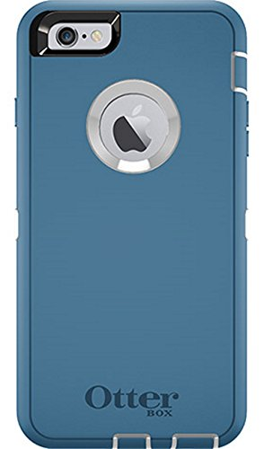 Rugged Protection OtterBox DEFENDER Case for iPhone 6 Plus, 6s Plus - Bulk Packaging - (Deep Water Blue/White)