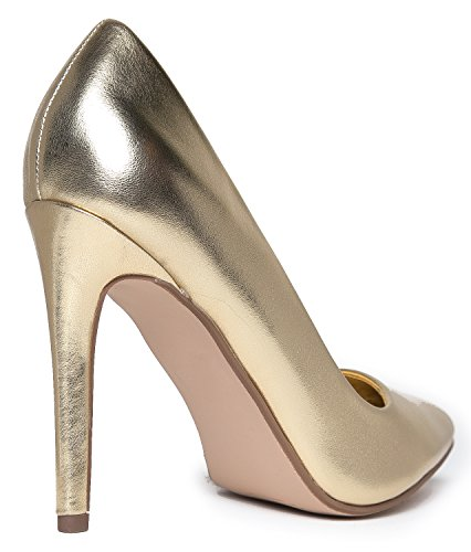 Pumps J Pointed Pu Heel Gold Adams Pumps Closed Metallic Slip Work On Toe Classic Kiera High wwxFrtCqA