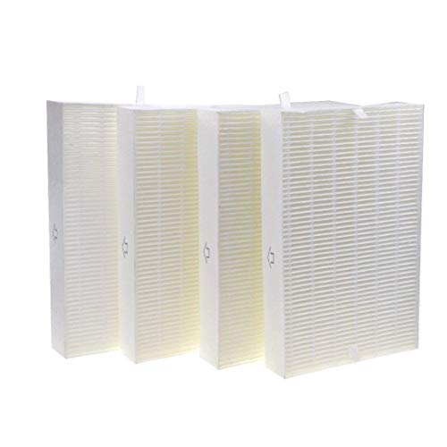 DerBlue 4psc HEPA Filter Replacement for Honeywell Air Purifier Models HPA100, HPA200 and HPA300 Compared with Part R Filter HRF-R1 HRF-R2 HRF-R3