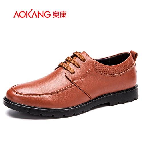 Aemember Scarpe Uomo Uomo Business Casual scarpe Soft-Comfortable indossare una scarpa Low-Cut ,39, giallo bruno 165211028