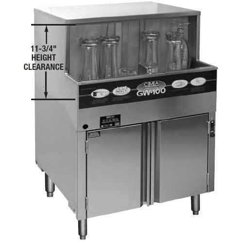 Cma Gw-100 Glass Washer, 25-1/4'' Wide Cabinet, 1000 Glasses Per Hour, Built in W by CMA