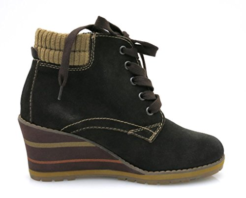 Tamaris - Botas de Piel para mujer marrón oscuro