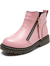Boys Girls Short Snow Sneaker Thickened Waterproof Winter Boot Fur Lined Cold Weather Boot Non-