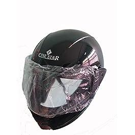 Force Helmet Glossy Finish Visor Black Color