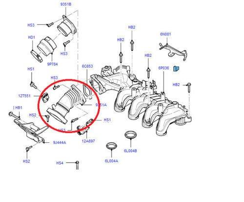 TK Car Parts 1440439 Manguera de tubo de aire manual con 1 sensor de agujero 3M5Q9351CD 1440439