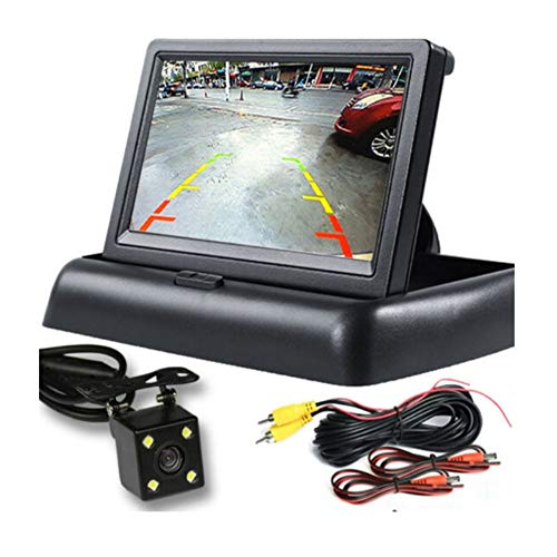 ROPALIA 4.3 inch Folding car reversing Image LCD Rear View Camera Parking Rear View Monitor Reverse Assist System