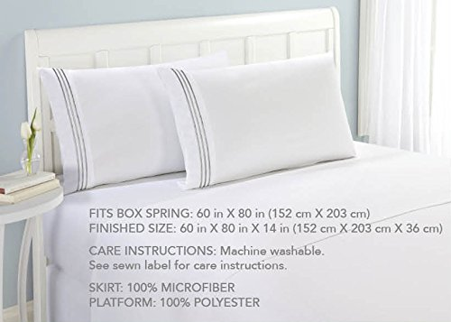 Bed skirt luxury microfiber classic design hotel linen for Luxury hotel 660 collection bed skirt