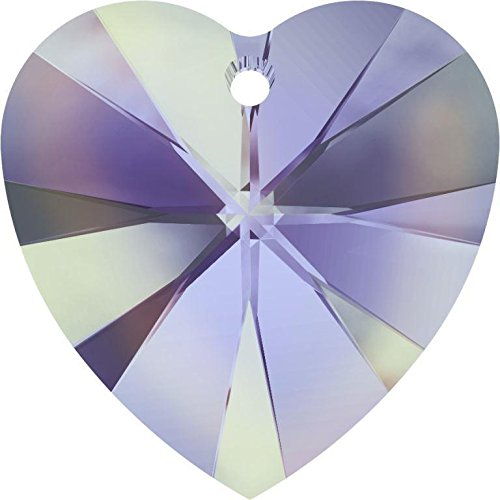 6228 Swarovski Pendant Xilion Heart Crystal Vitrail Light | 14mm - Pack of 144 (Wholesale) | Small & Wholesale Packs ()