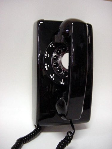 (Custom Phones - Fun Home Products 1966 Model 554 Vintage Wall Telephone Select Color: Black)