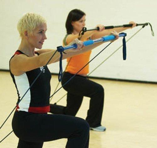 Original 'Gymstick stark/schwarz' - ideales Trainingsgerät für Sporttraining von trainierten Frauen und Männern Fitnessgerät