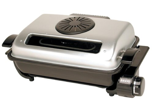 Sanyo HR-T2 Electric Roaster, Black with Metal Top
