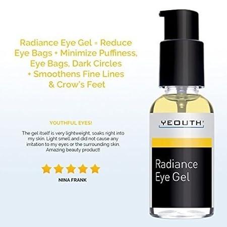 Amazon.com: Gel Para Contorno De Ojos - Trata Ojeras, Bolsas, Hinchazón Y Arrugas - Contiene Ácido Hialurónico: Beauty